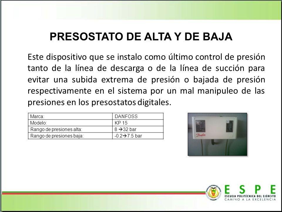 PRESOSTATO DE ALTA Y DE BAJA