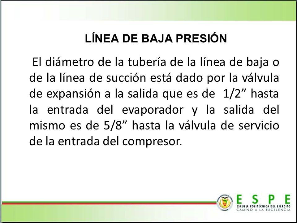 LÍNEA DE BAJA PRESIÓN