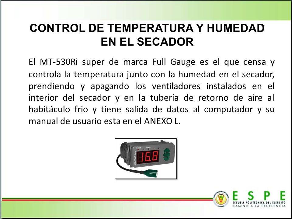 CONTROL DE TEMPERATURA Y HUMEDAD EN EL SECADOR