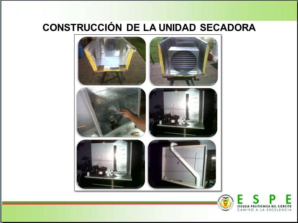 CONSTRUCCIÓN DE LA UNIDAD SECADORA