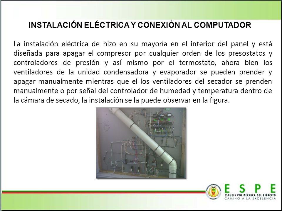 INSTALACIÓN ELÉCTRICA Y CONEXIÓN AL COMPUTADOR