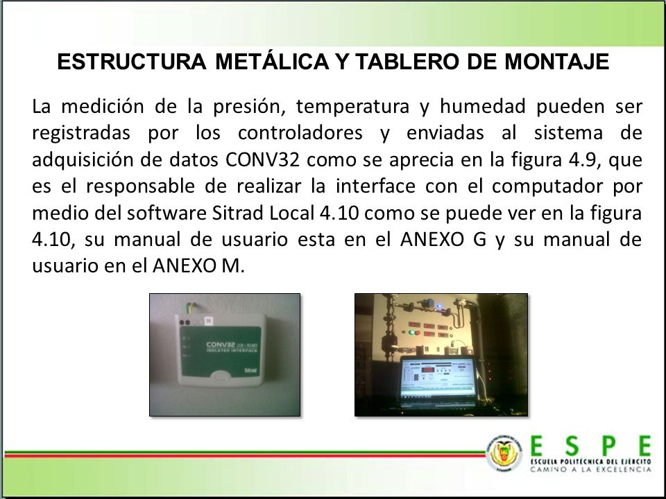 ESTRUCTURA METÁLICA Y TABLERO DE MONTAJE