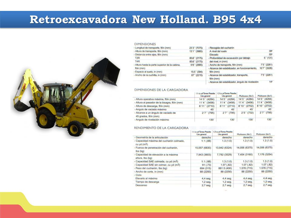 Retroexcavadora New Holland. B95 4x4