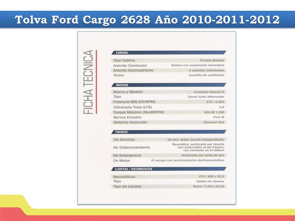 Tolva Ford Cargo 2628 Año 2010-2011-2012