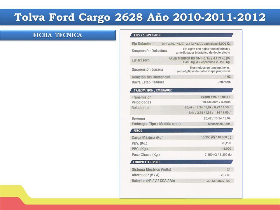 Tolva Ford Cargo 2628 Año 2010-2011-2012 FICHA TECNICA