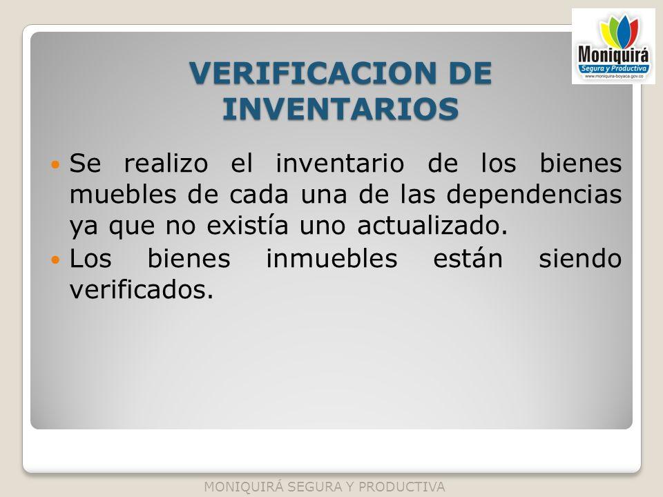 VERIFICACION DE INVENTARIOS