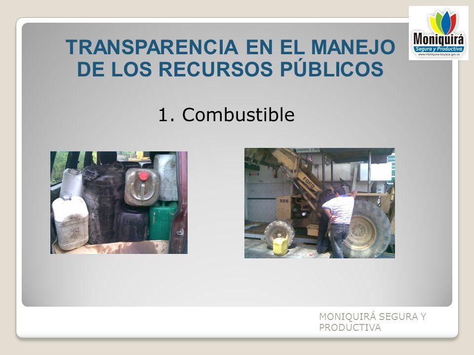 TRANSPARENCIA EN EL MANEJO DE LOS RECURSOS PÚBLICOS