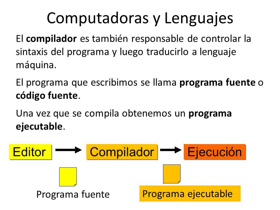 Computadoras y Lenguajes