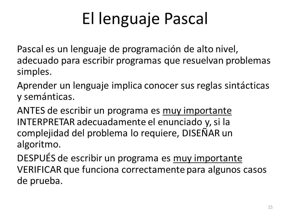 El lenguaje Pascal