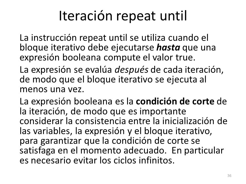 Iteración repeat until
