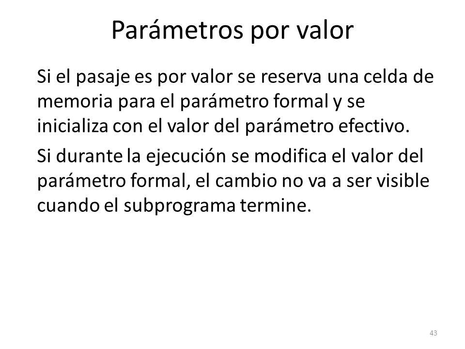 Parámetros por valor