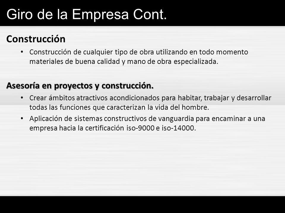 Giro de la Empresa Cont. Construcción