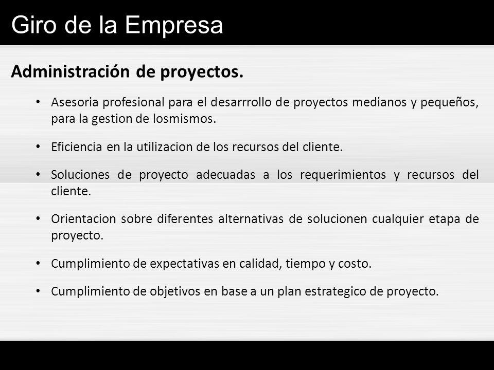 Giro de la Empresa Administración de proyectos.