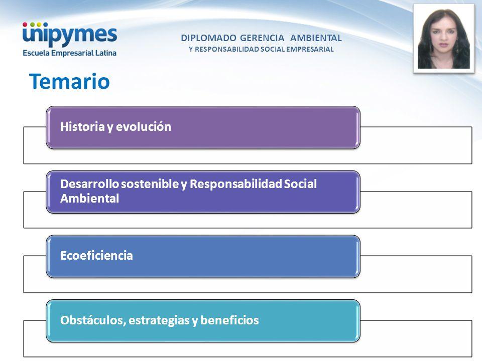 DIPLOMADO GERENCIA AMBIENTAL Y RESPONSABILIDAD SOCIAL EMPRESARIAL
