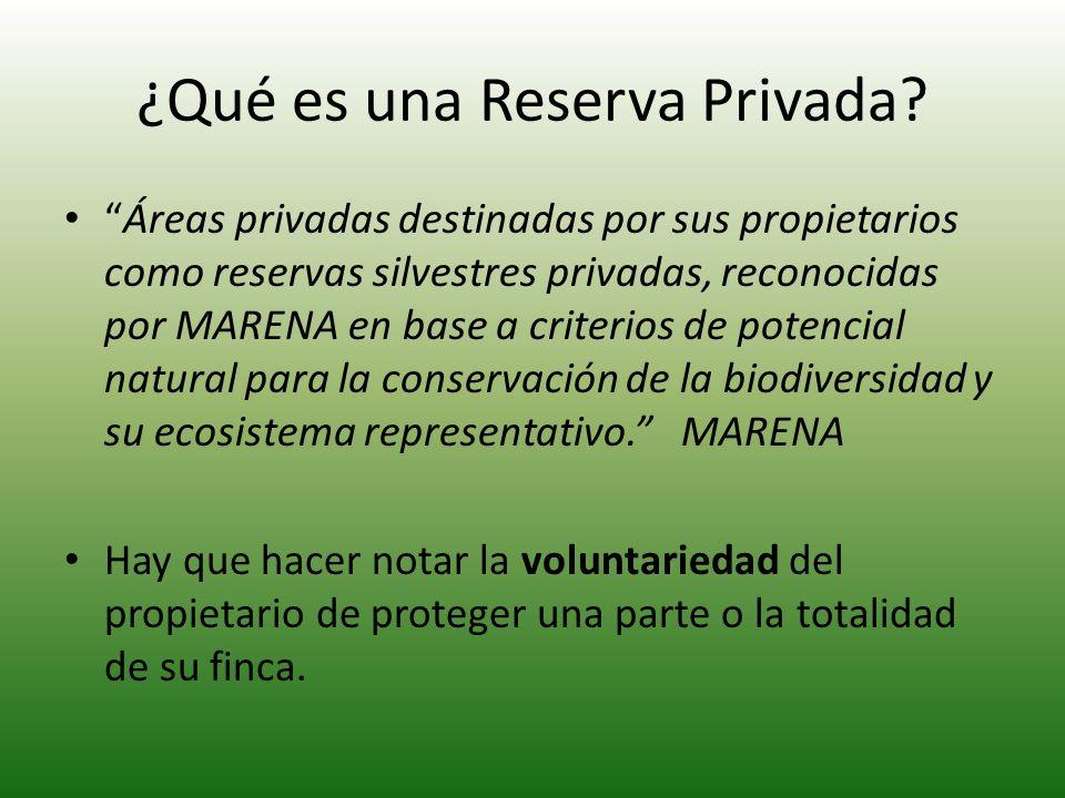 ¿Qué es una Reserva Privada
