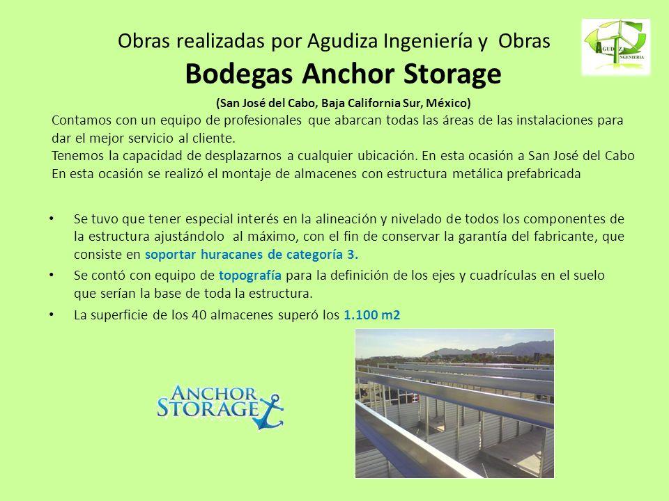 Obras realizadas por Agudiza Ingeniería y Obras