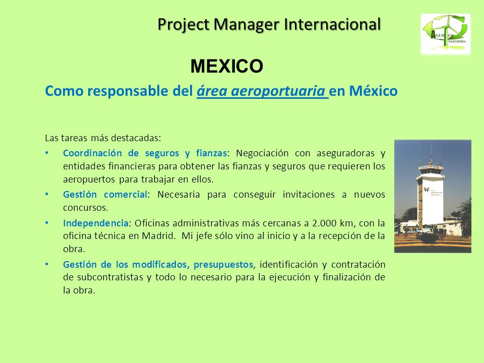 Project Manager Internacional