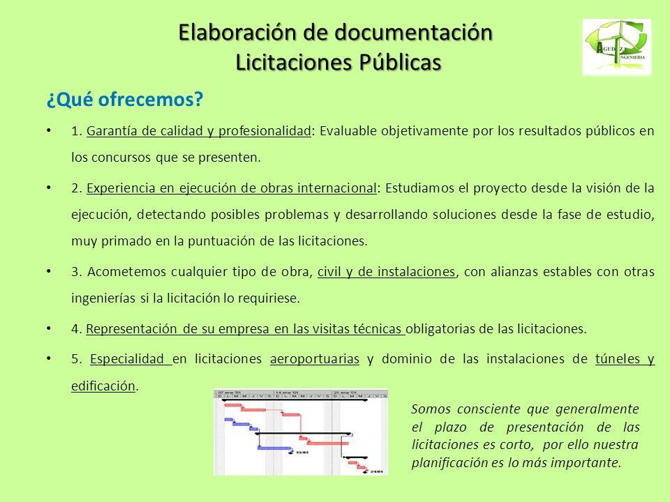 Elaboración de documentación Licitaciones Públicas