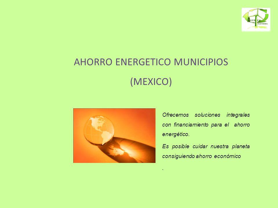 AHORRO ENERGETICO MUNICIPIOS