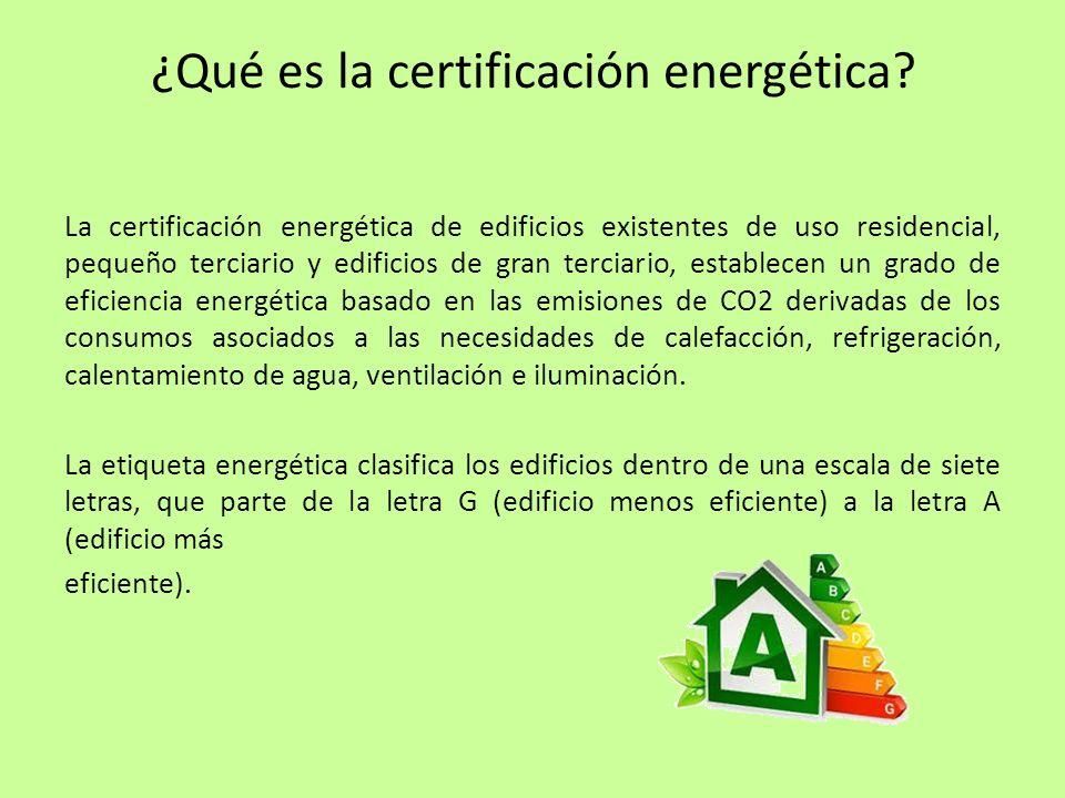 ¿Qué es la certificación energética
