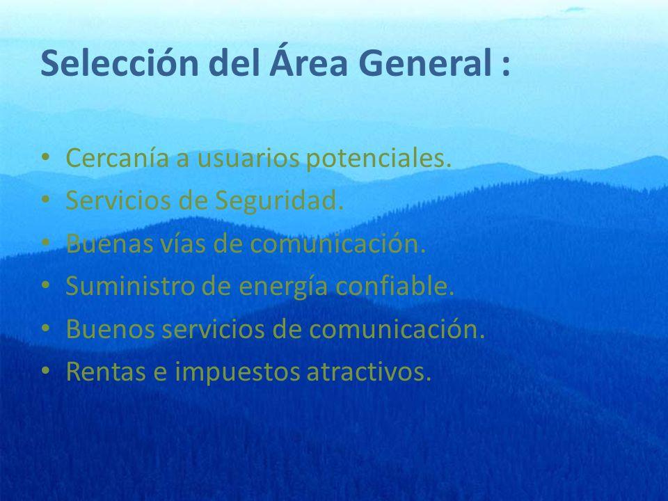Selección del Área General :