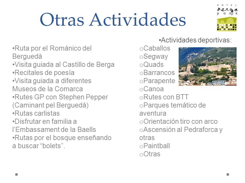 Otras Actividades Actividades deportivas: