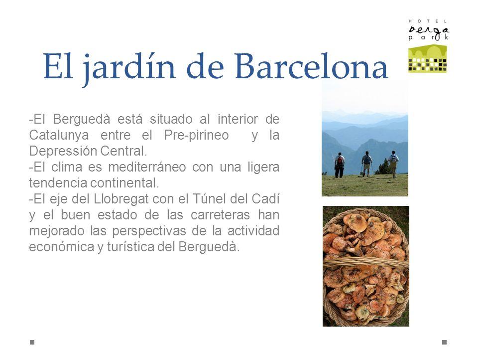 El jardín de Barcelona El Berguedà está situado al interior de Catalunya entre el Pre-pirineo y la Depressión Central.