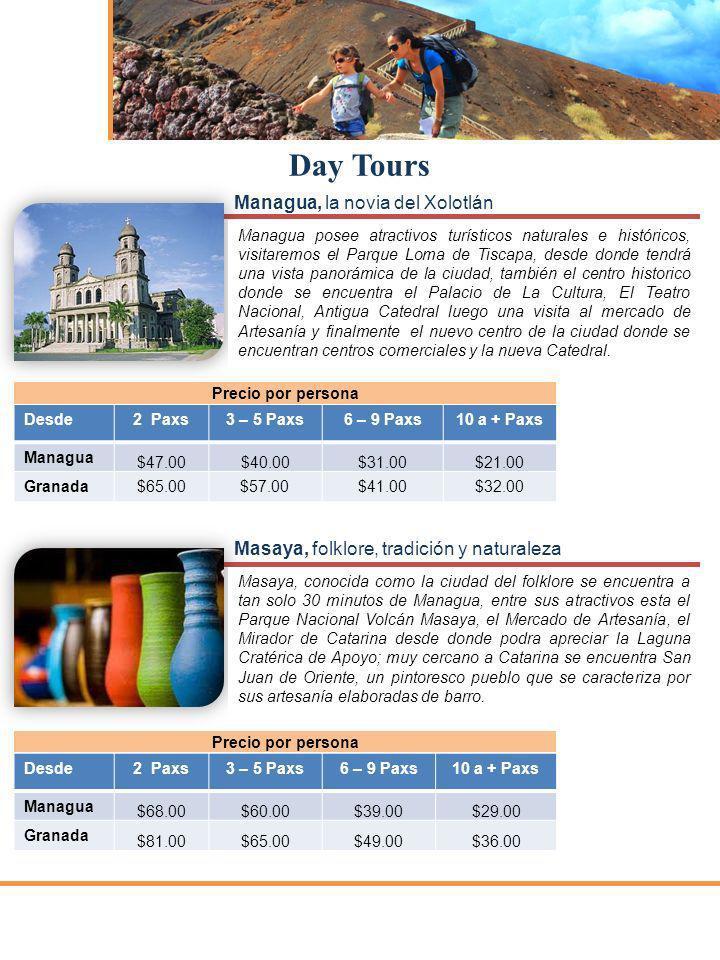 Day Tours Managua, la novia del Xolotlán
