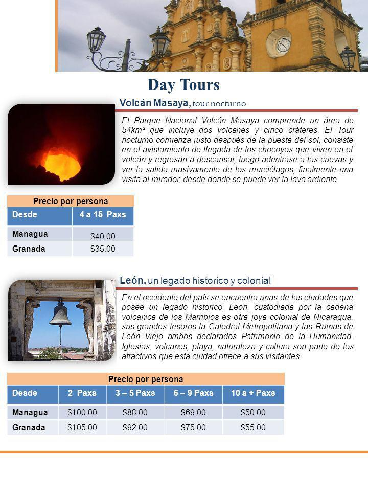 Day Tours Volcán Masaya, tour nocturno