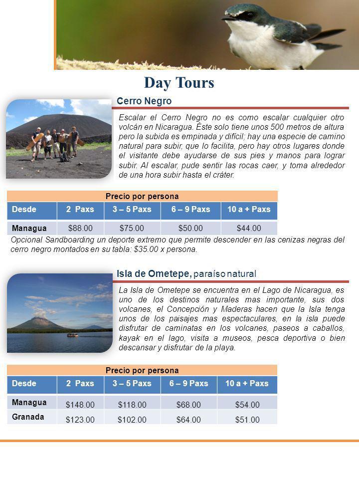 Day Tours Cerro Negro Isla de Ometepe, paraíso natural