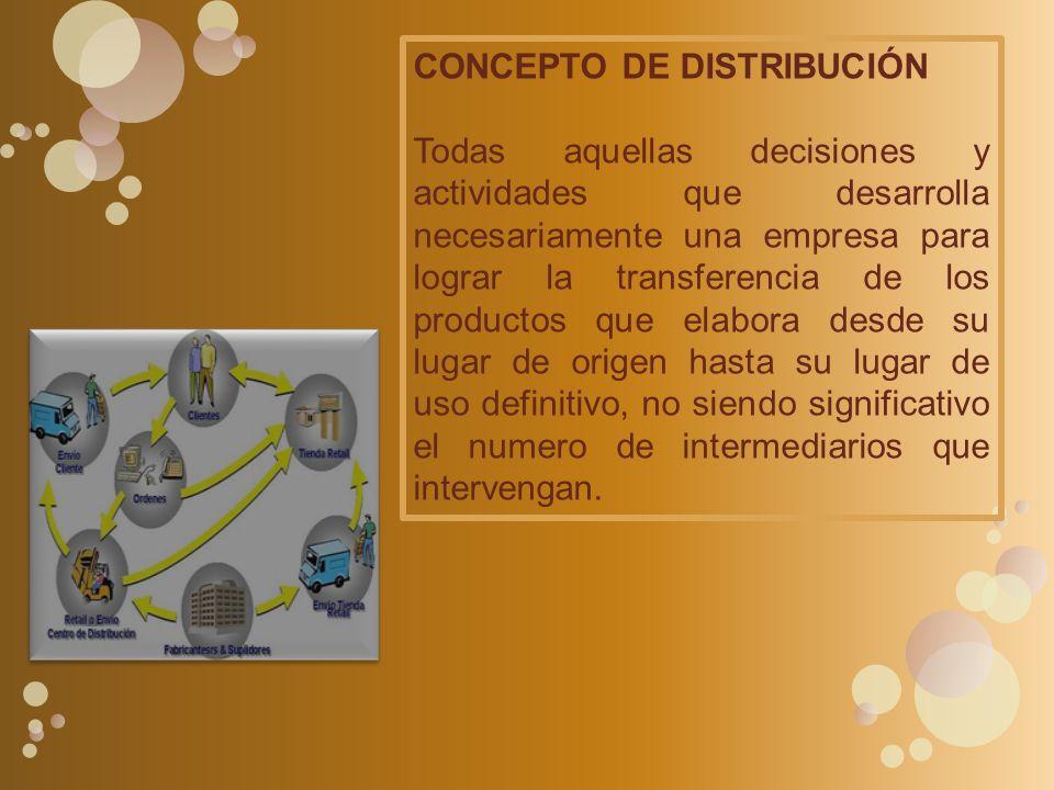 CONCEPTO DE DISTRIBUCIÓN