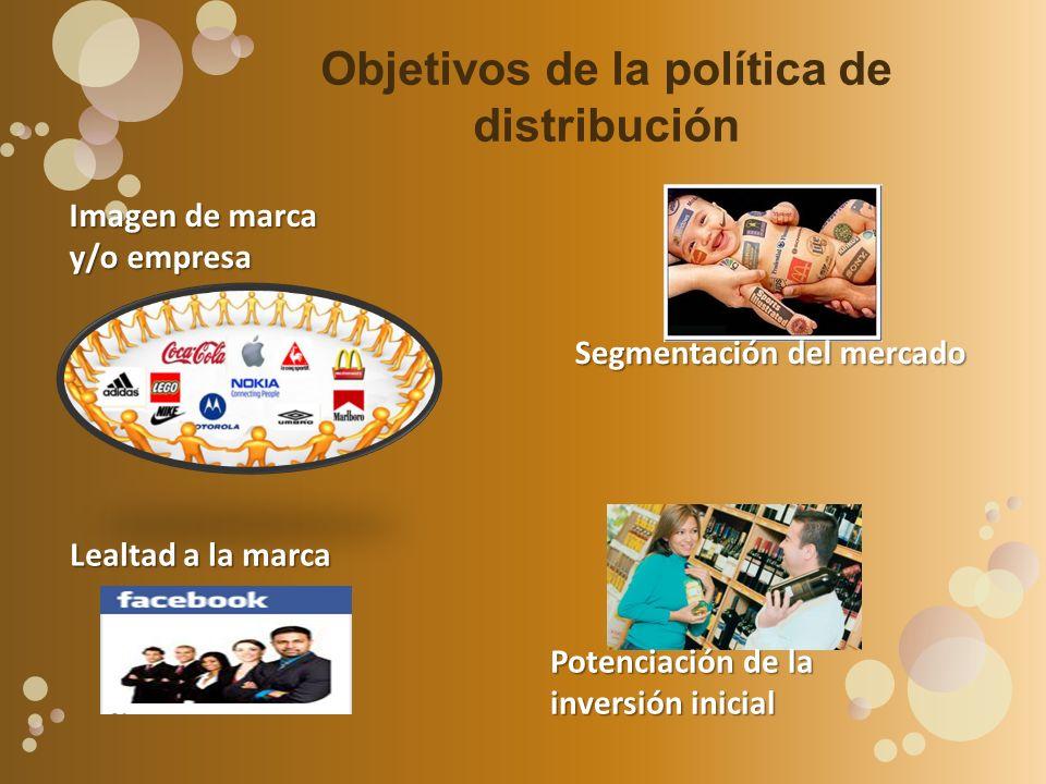 Objetivos de la política de distribución