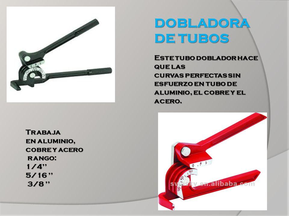 DOBLADORA DE TUBOS Este tubo doblador hace que las curvas perfectas sin esfuerzo en tubo de aluminio, el cobre y el acero.