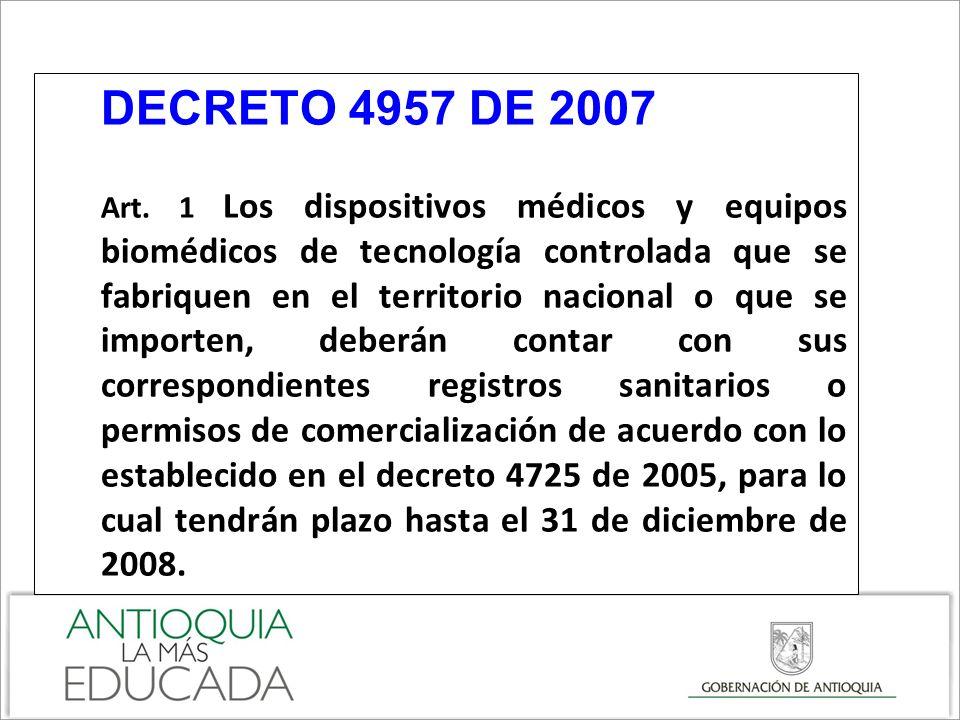 DECRETO 4957 DE 2007