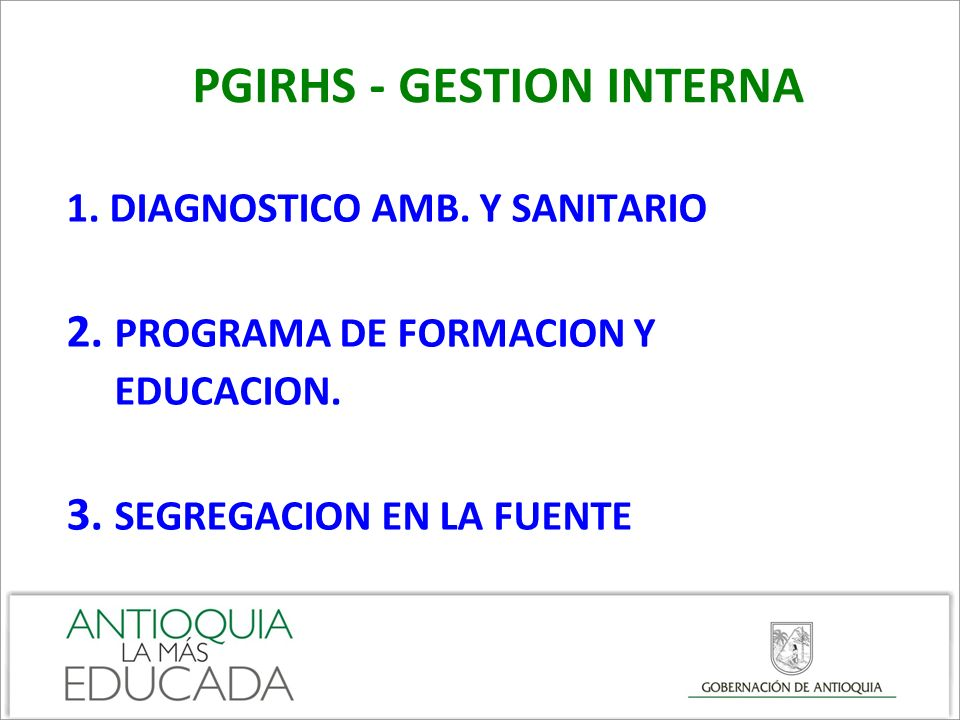 PGIRHS - GESTION INTERNA