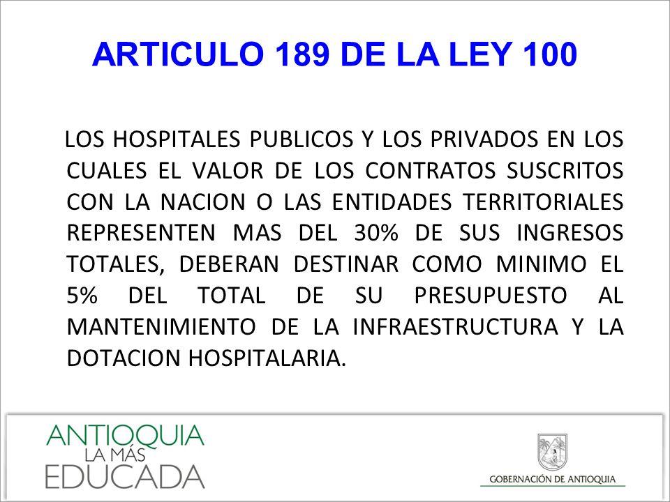 ARTICULO 189 DE LA LEY 100