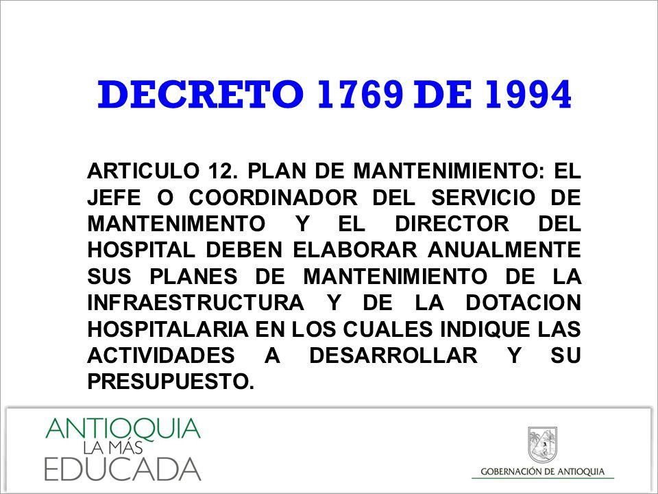 DECRETO 1769 DE 1994