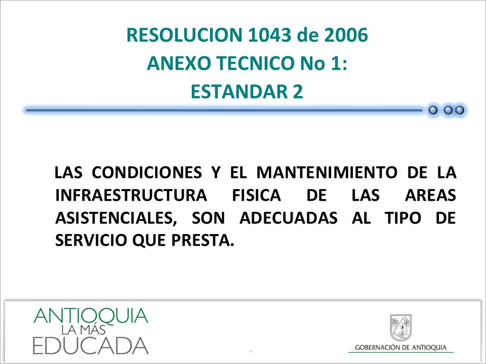 RESOLUCION 1043 de 2006 ANEXO TECNICO No 1: ESTANDAR 2