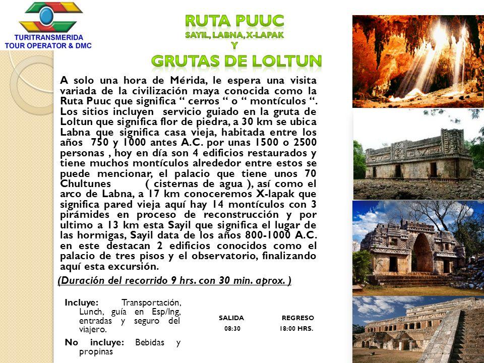 Ruta Puuc Sayil, Labna, X-lapak y grutas de Loltun