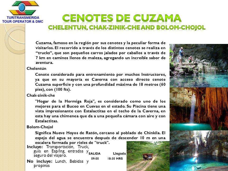 Cenotes de Cuzama CHeleNtun, Chak-zinik-che and Bolom-chojol