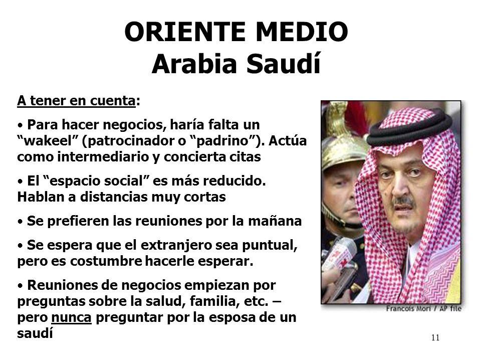 ORIENTE MEDIO Arabia Saudí
