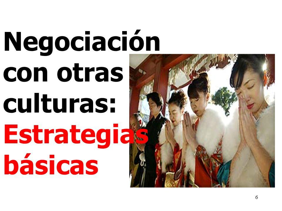 Negociación con otras culturas: Estrategias básicas