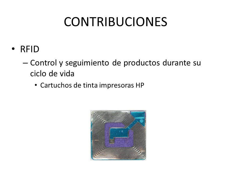 CONTRIBUCIONES RFID. Control y seguimiento de productos durante su ciclo de vida.