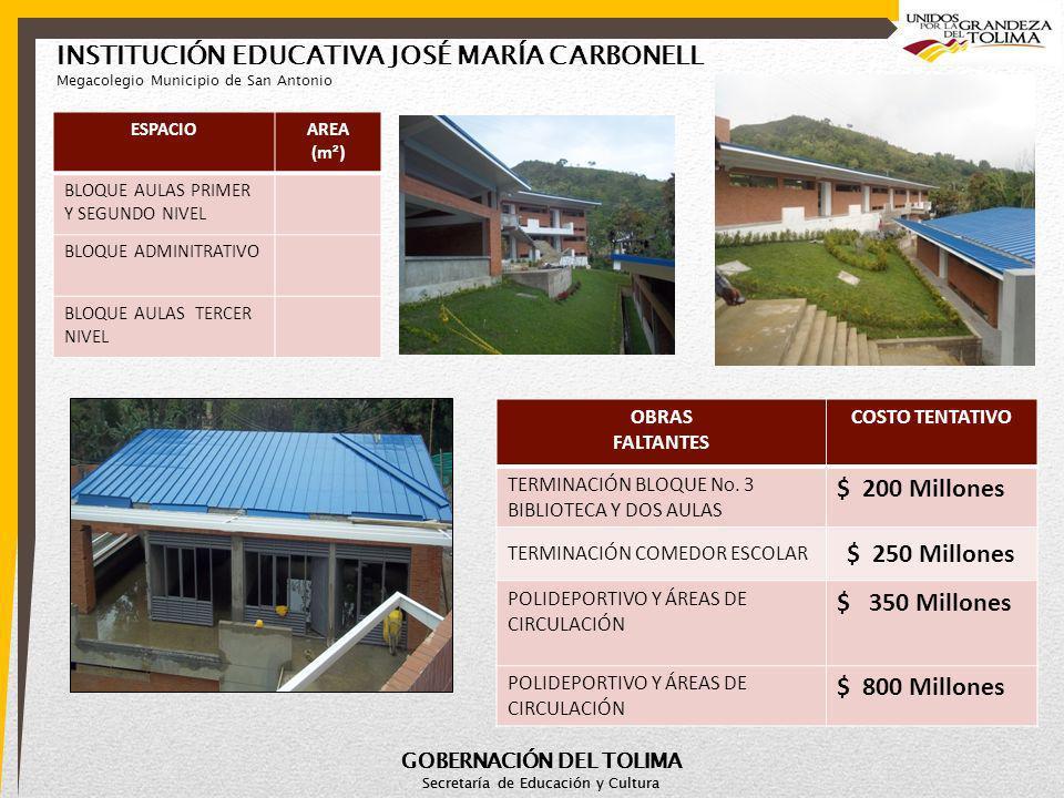 INSTITUCIÓN EDUCATIVA JOSÉ MARÍA CARBONELL