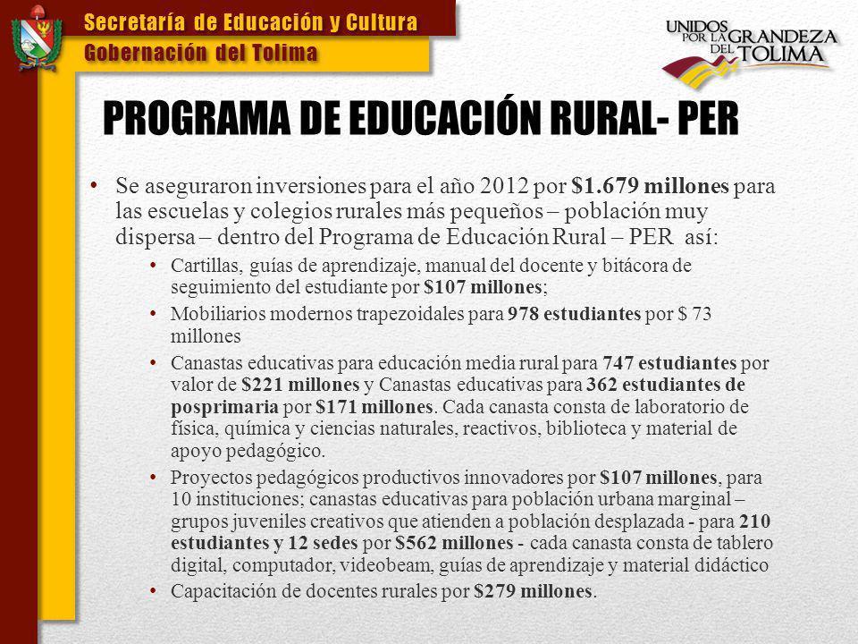 PROGRAMA DE EDUCACIÓN RURAL- PER