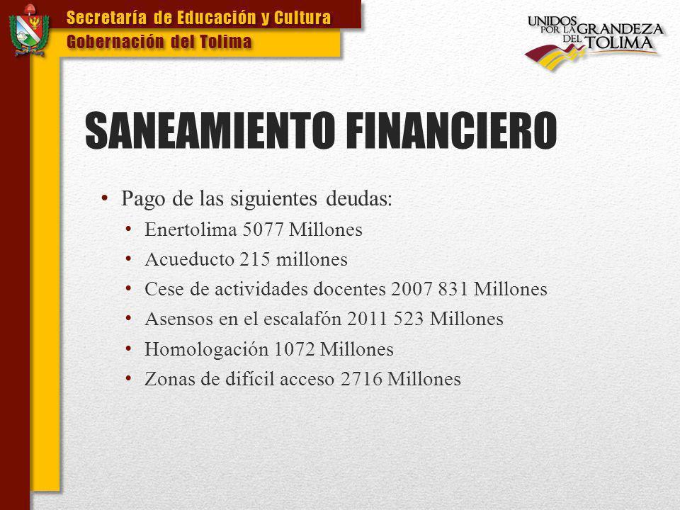 SANEAMIENTO FINANCIERO