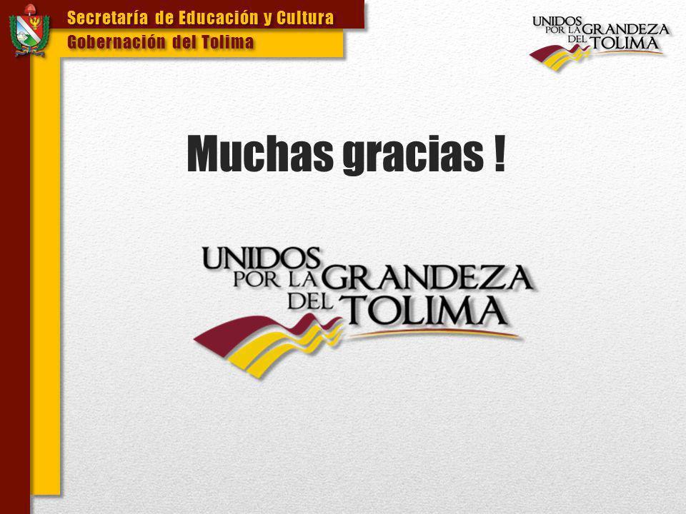Muchas gracias ! Secretaría de Educación y Cultura