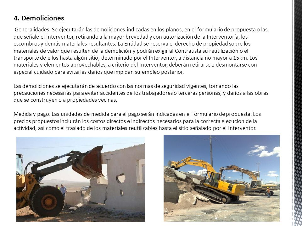 4. Demoliciones