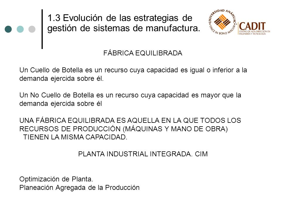 PLANTA INDUSTRIAL INTEGRADA. CIM