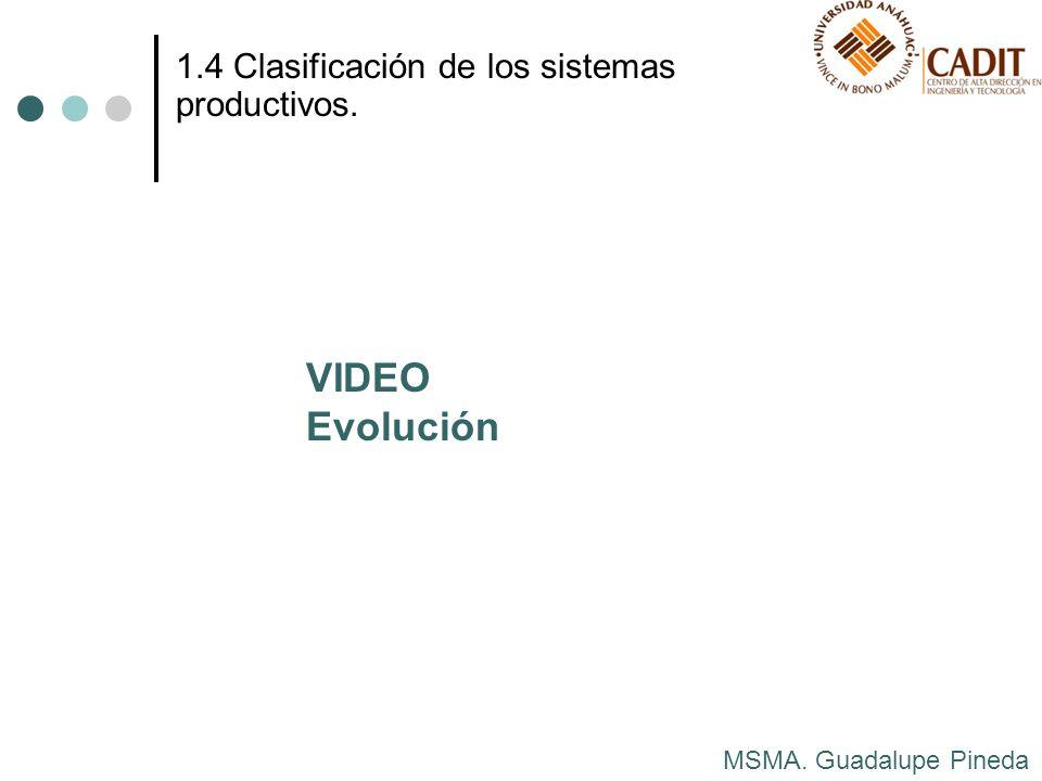 VIDEO Evolución 1.4 Clasificación de los sistemas productivos.